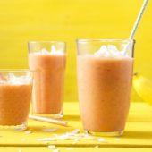 Bananen-Karotten-Smoothie mit Ingwer und Zimt
