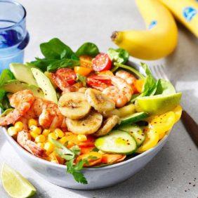 Bunter Garnelen-Bananen-Salat