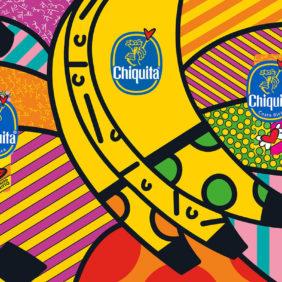 Chiquitas Blauer Sticker von Romero Britto