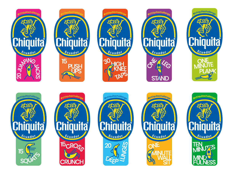 Chiquita bringt zur Förderung von Gesundheit und Wohlbefinden Fitness-Sticker auf den Markt - 1