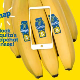 Chiquita und Snapchat kooperieren zum Tag der Banane