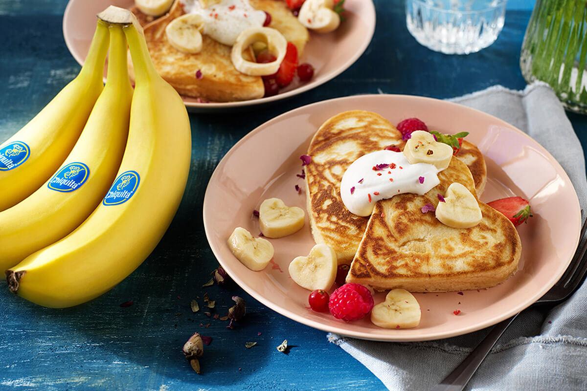 Chiquita Bananenpfannkuchen zum Valentinstag