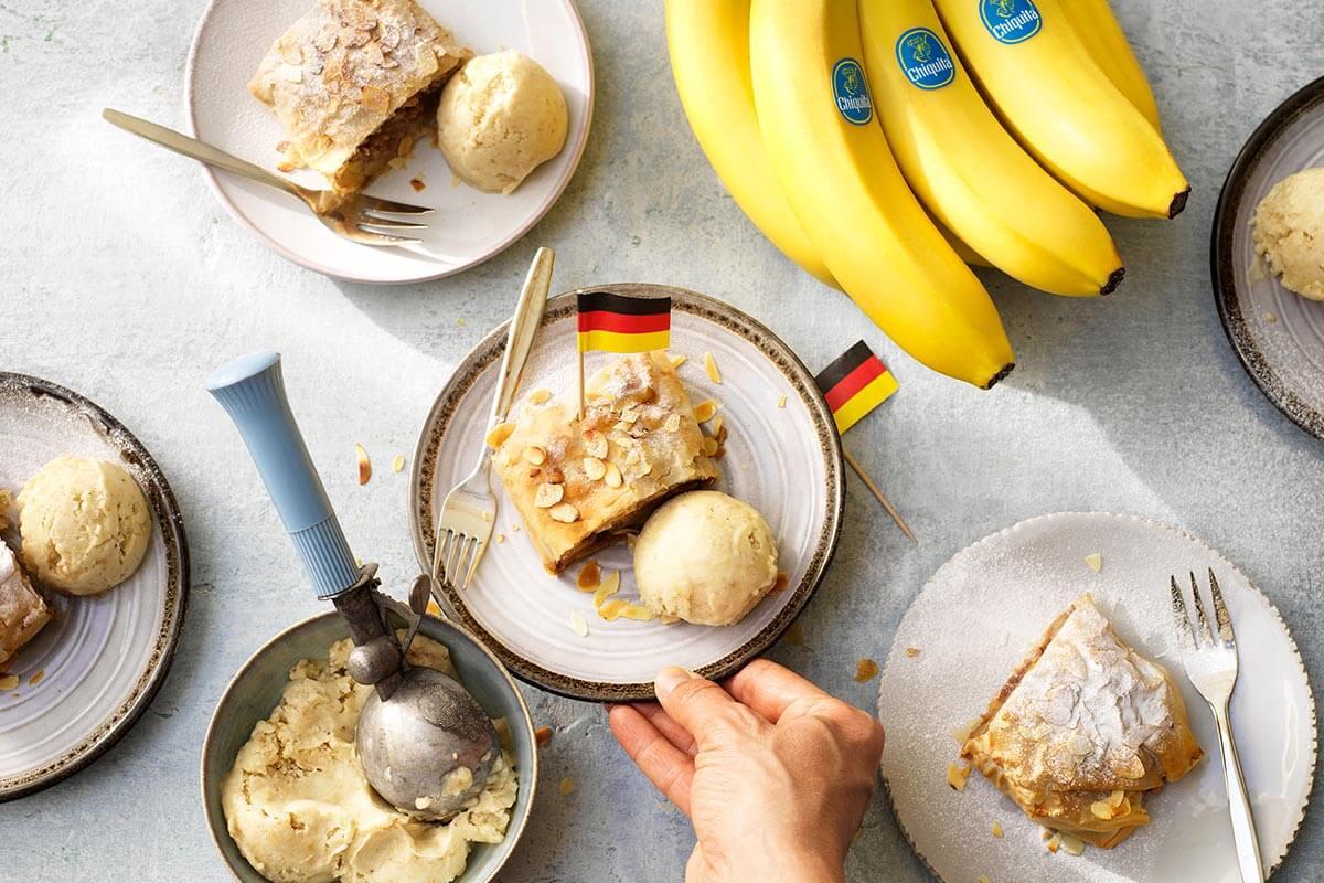 Chiquita Bananen- Strudel mit Mandeln