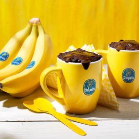Brownie Tassenkuchen mit Chiquita Bananen