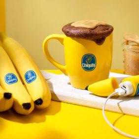 Schoko-Erdnussbutter Tassenkuchen mit Chiquita Bananen