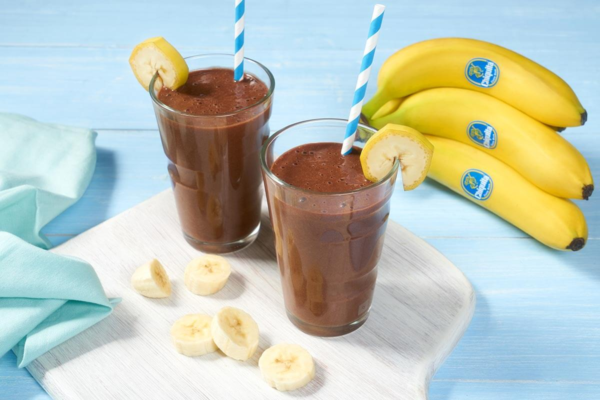 Schneller Double-Chocolate-Shake mit Chiquita Bananen