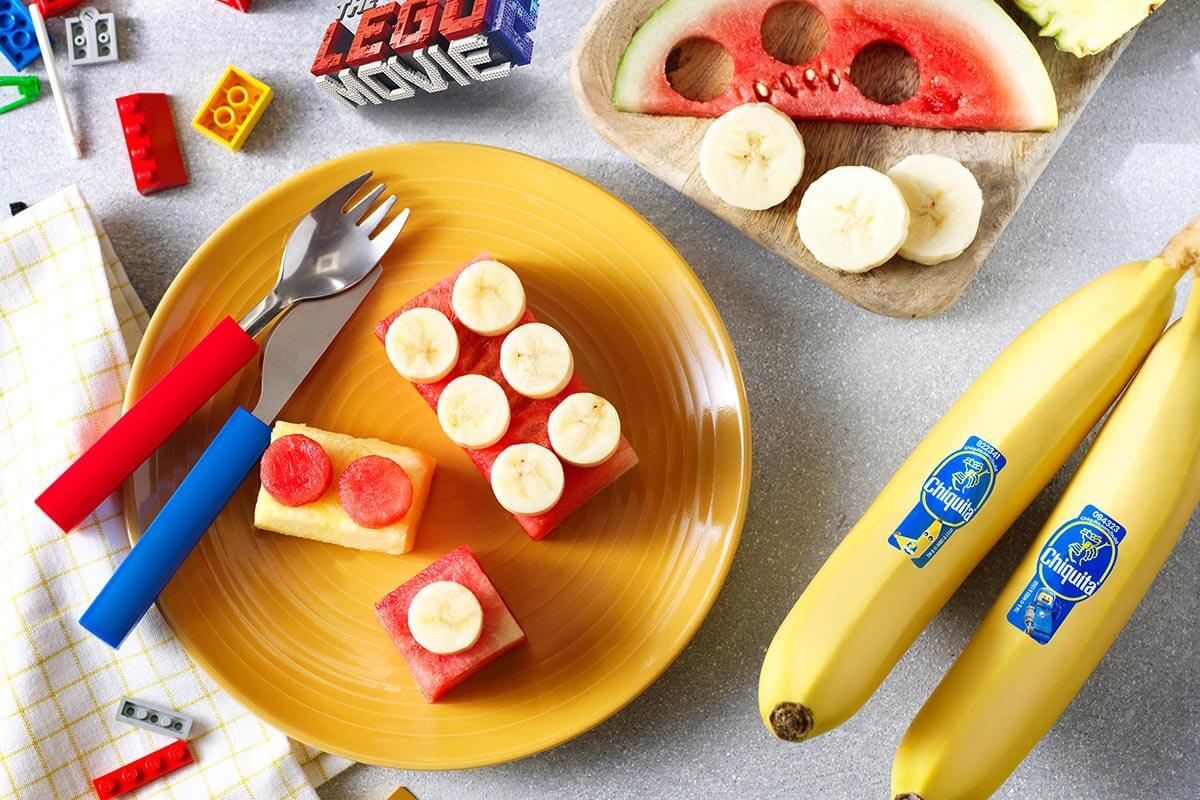 Chiquita Bananen-Emmet-Fruchtsteine aus Bricksburg