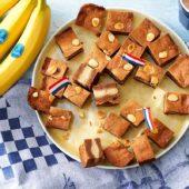 Spekulatius-Keks, gefüllt mit Chiquita Bananen und Marzipan