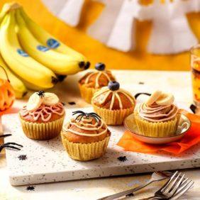 Halloween-Pumpkin-Muffins mit Chiquita Bananen