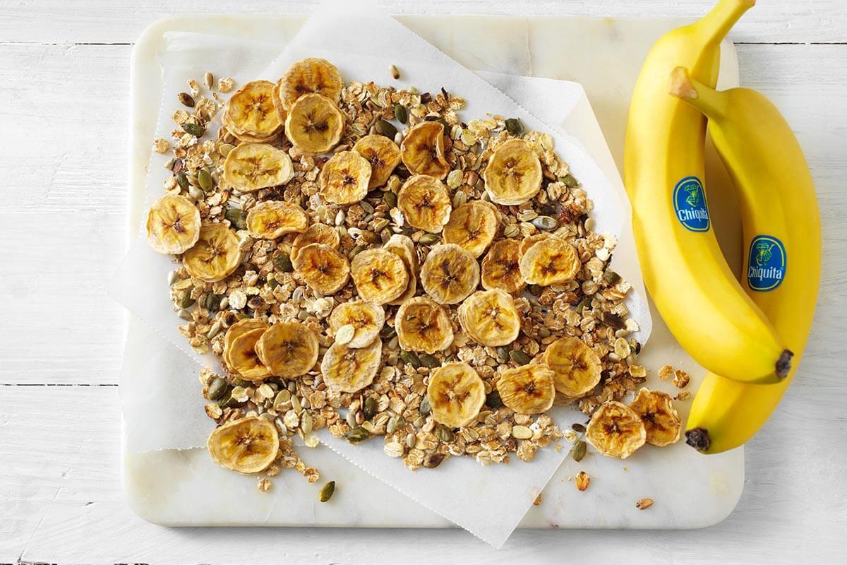 Selbstgemachte Chiquita Bananenchips