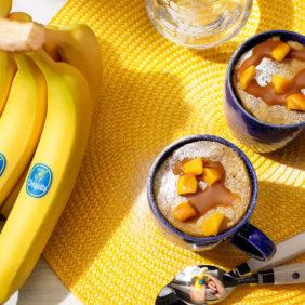 Tassenkuchen mit Kürbis und Chiquita Bananen