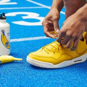 Lauf, lauf, lauf mit Chiquita Bananen so schnell Du kannst durch diesen Frühling