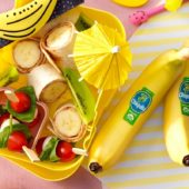 Wraps mit Chiquita Bananenscheiben und Erdnussbutter