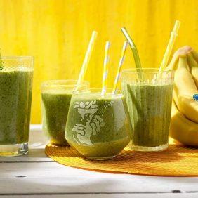 Gesunder Smoothie mit Chiquita Banane und Spinat