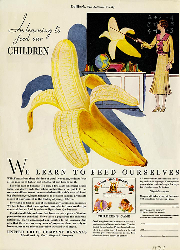 History-Ads-1931-Chiquita_Learning_how_to_feed_children
