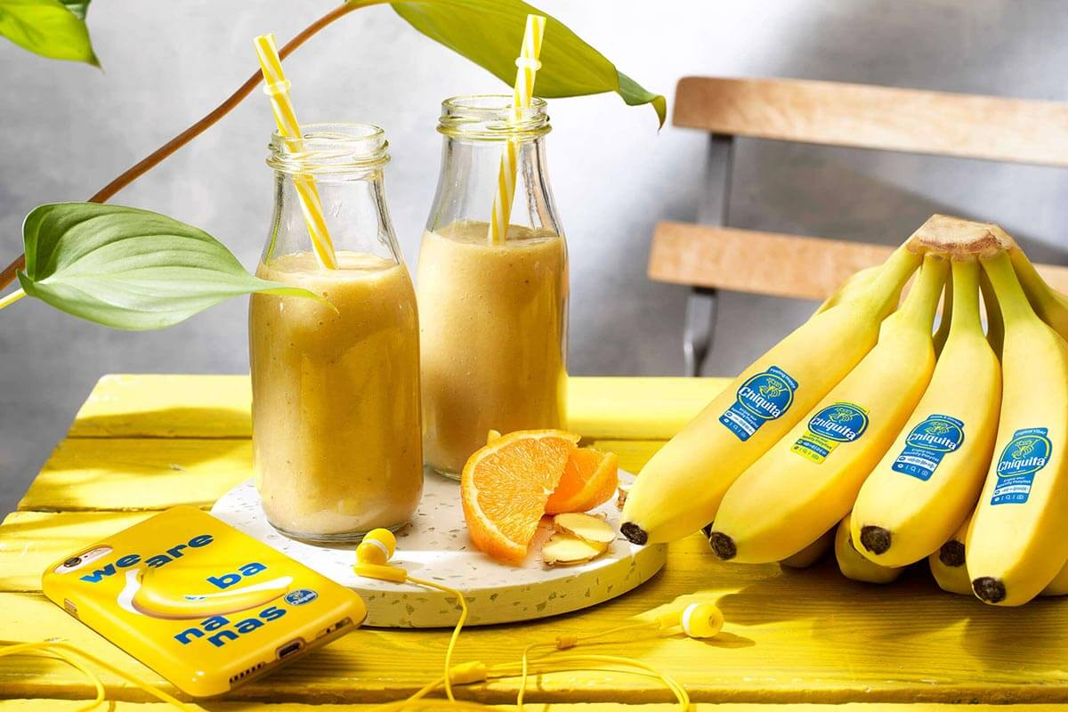 Smoothie mit Chiquita Banane, Orange und Ingwer