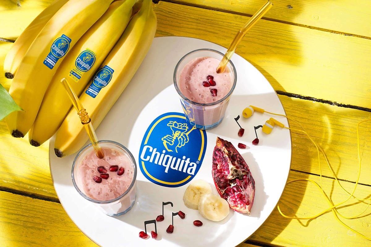 Smoothie mit Chiquita Banane und Granatapfel