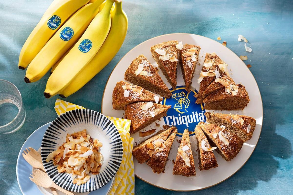 Veganes Chiquita Bananenbrot mit Kokos