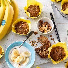 Vegane Chiquita Bananenmuffins mit Pekannüssen