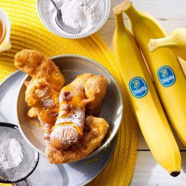 Einfache frittierte Chiquita Bananen