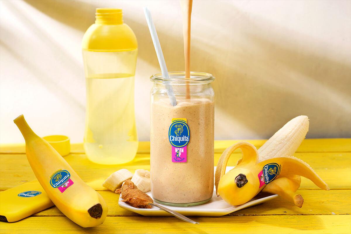 Warm-up-Shake mit Erdnussbutter und Chiquita Banane