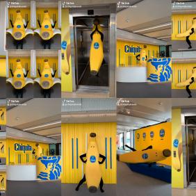 Nimm gemeinsam mit unserem Bananaman an der #ChiquitaChallenge teil