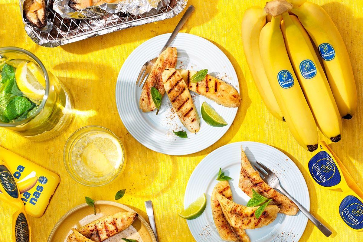 Gegrillte BBQ Chiquita Bananen mit Zimt