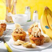 Cupcakes mit Chiquita Bananen und Erdnussbutter