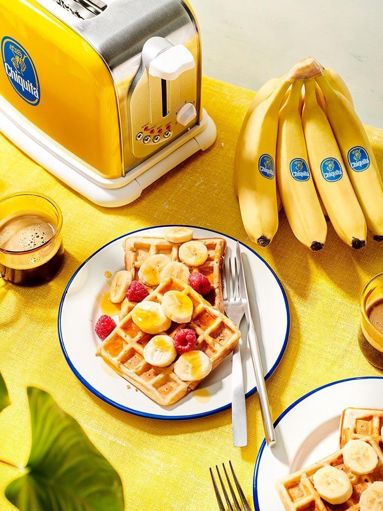Vegane Chiquita Bananenbrotwaffeln