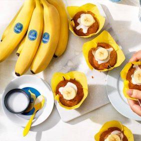 Vegane Cupcakes mit Chiquita Bananen-Creme