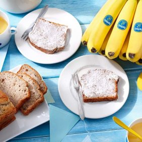 Klassisches Chiquita Bananenbrot mit Tee