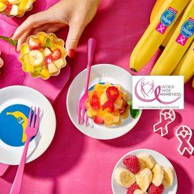 Gesunder Fruchtsalat mit Chiquita Bananen und Wackelpudding