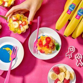 Gesunder to Obstsalat mit Chiquita Bananen und Wackelpudding