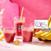 Smoothie mit Chiquita Bananen, Karotten, roter Bete, Gurke