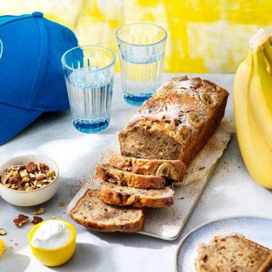 Einfaches Chiquita Bananenbrot mit übrig gebliebenen Bananen