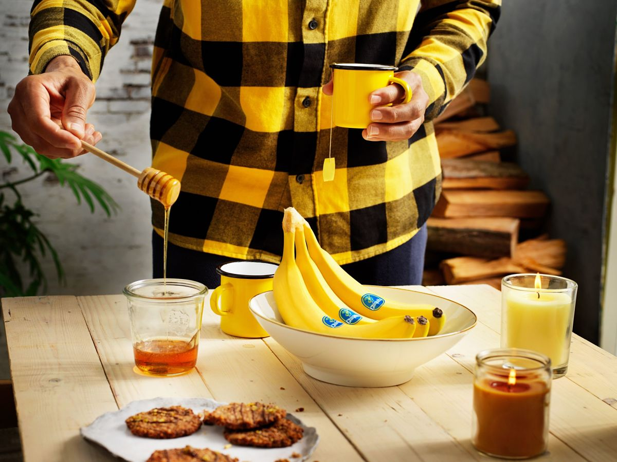 Bananenschalentee