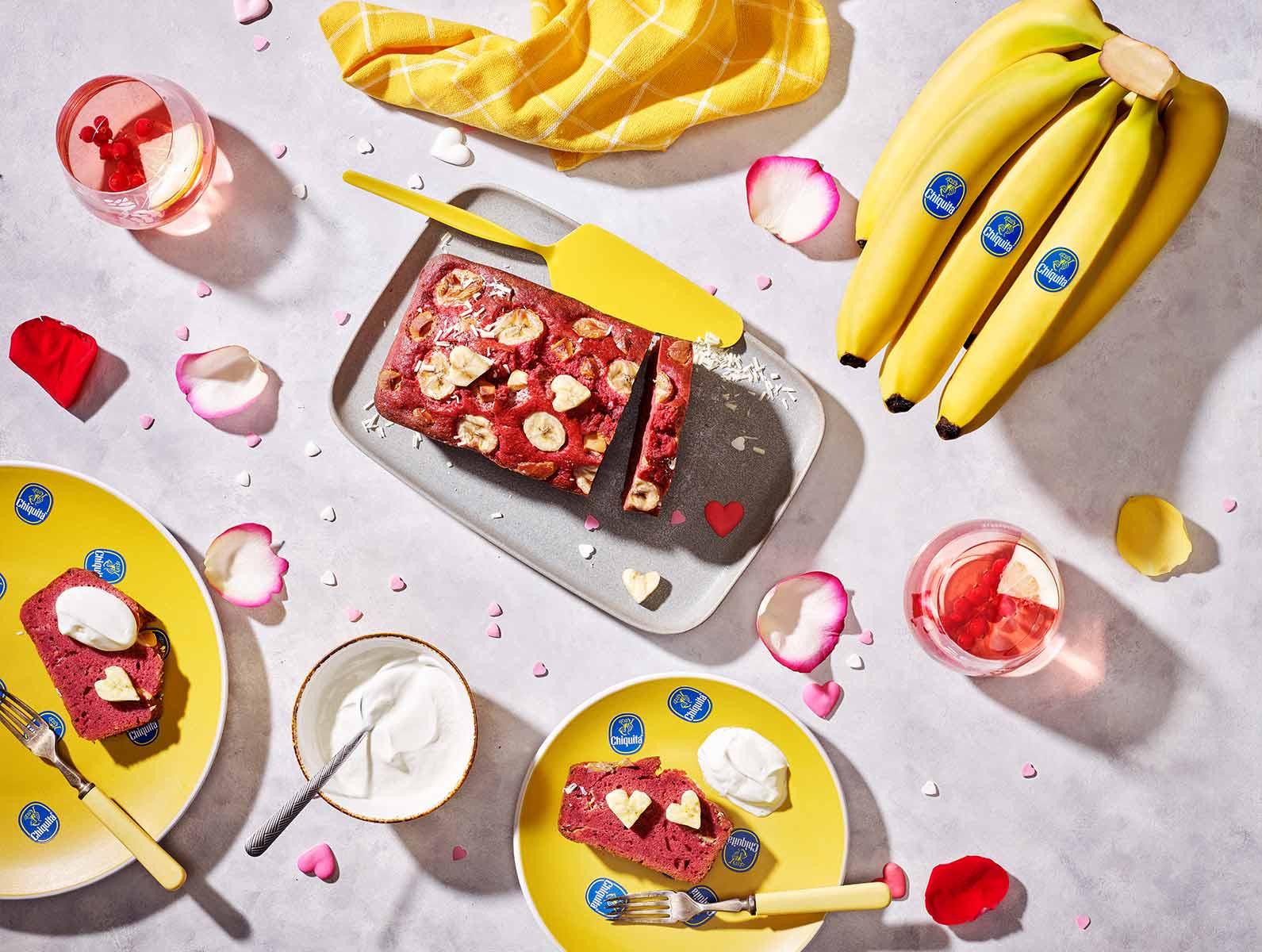 Samtig weiches Chiquita Bananenbrot zum Valentinstag