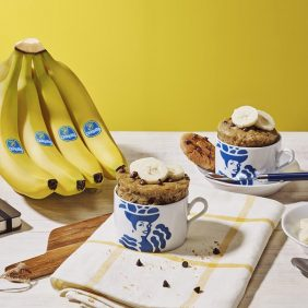 Tassenkuchen mit Chiquita Bananen und Schokochip-Cookie