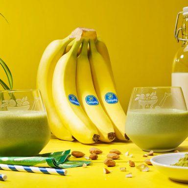 Gefrorener Bananen-Matcha-Smoothie von Chiquita