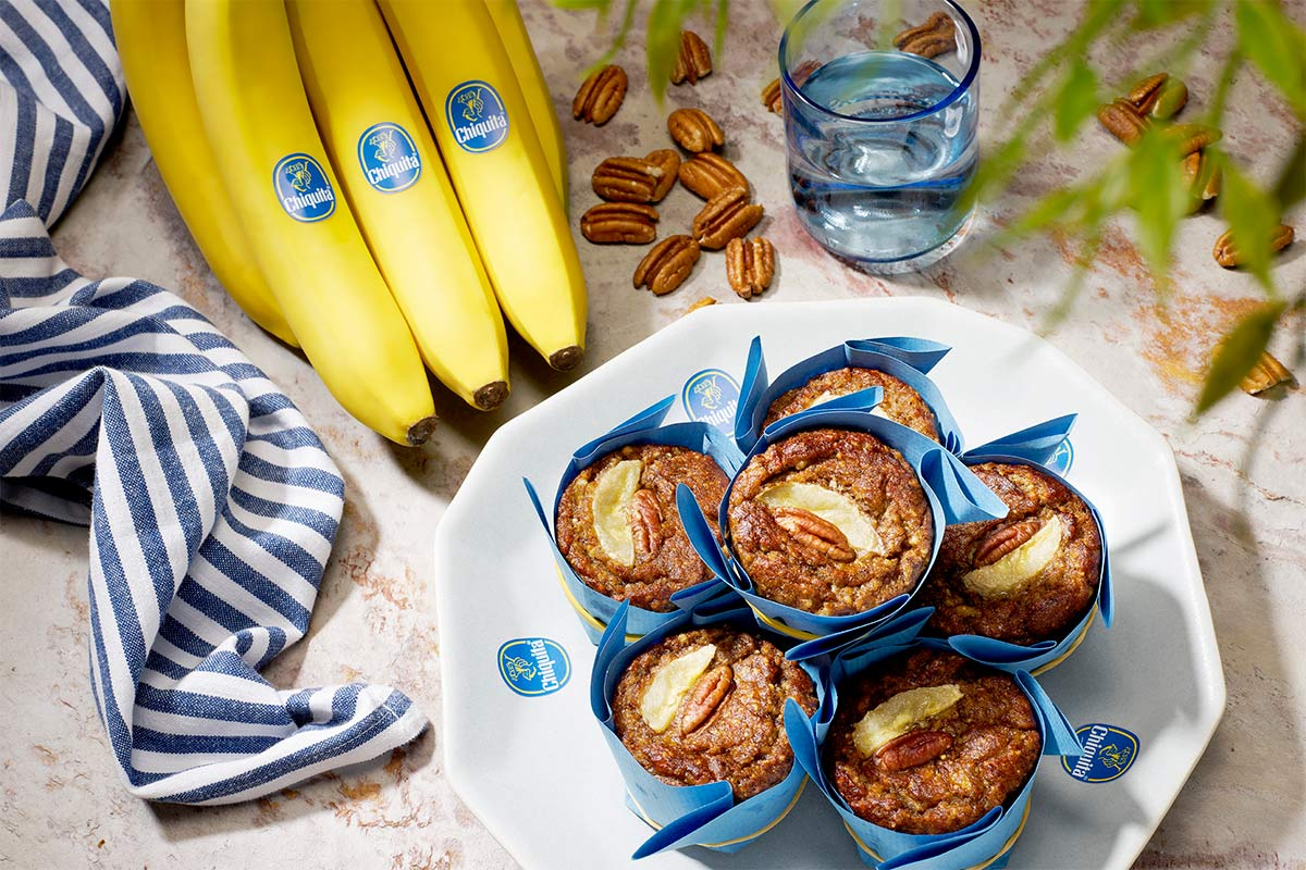 Paleo Bananen-Pekannuss-Muffins von Chiquita