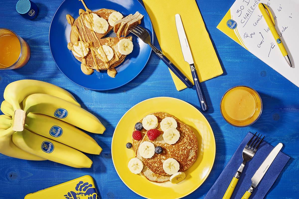 Post Workout Eiweißpfannkuchen mit Bananen von Chiquita