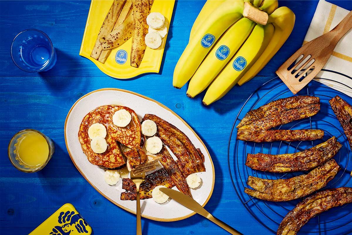 Veganer Bananenschalenbacon von Chiquita